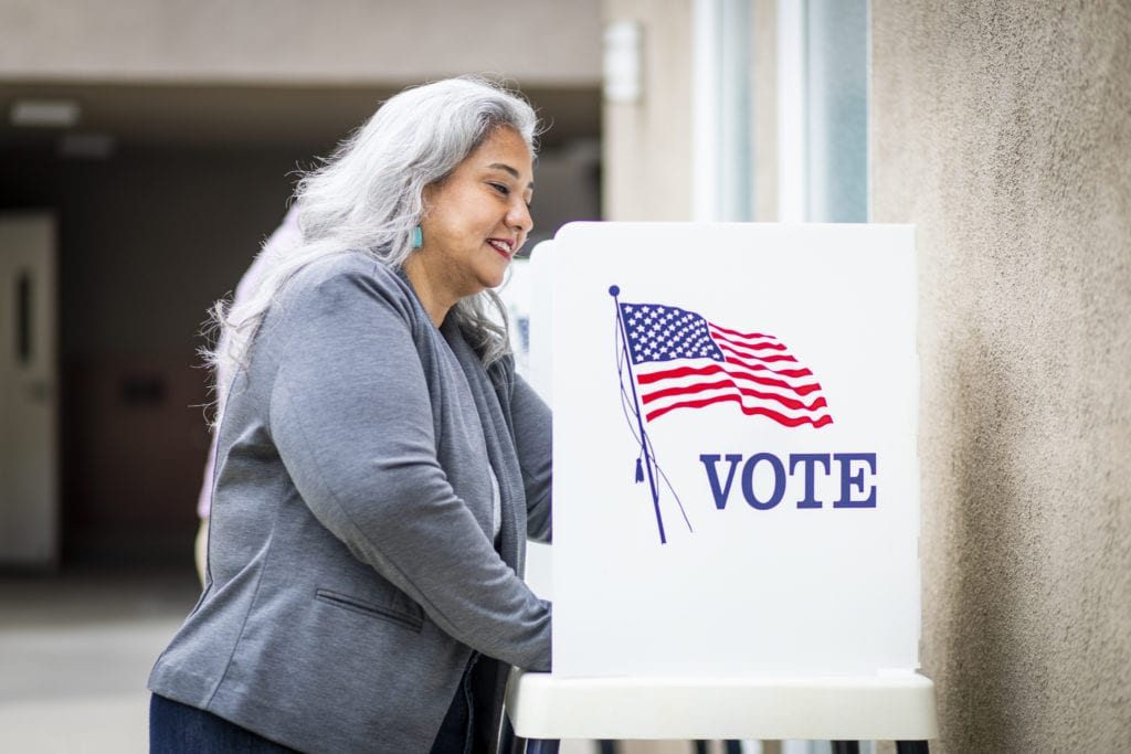 Senior Mexican Woman Voting in Missouri - SADI