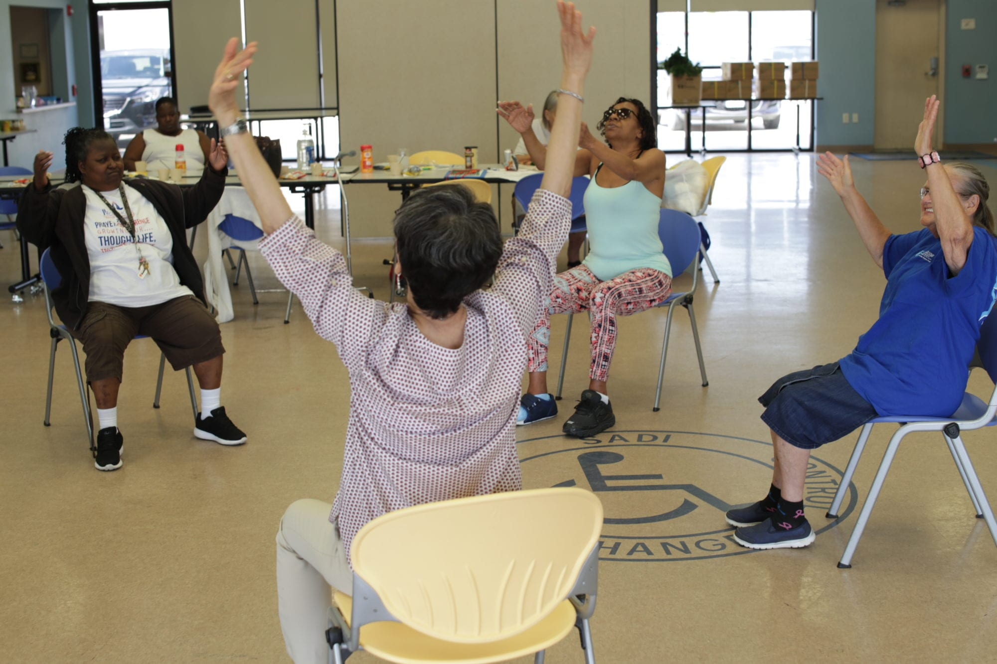 Exercise Class for the disabled at SADI in Missouri