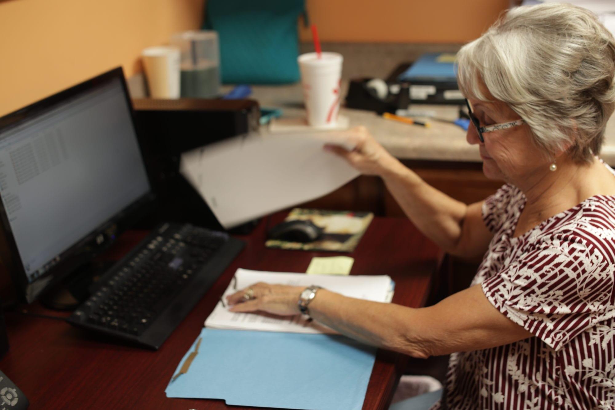 File Clerk Barbara at SADI in Missouri