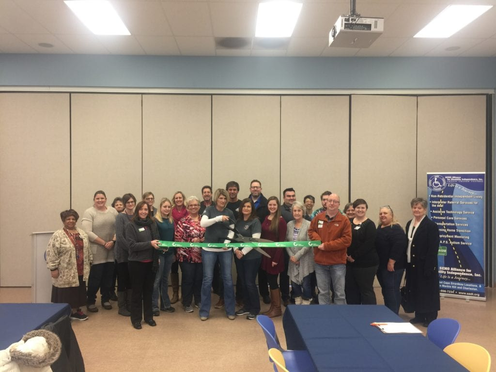 Autism Awareness of Southeast Missouri ribbon cutting - SADI