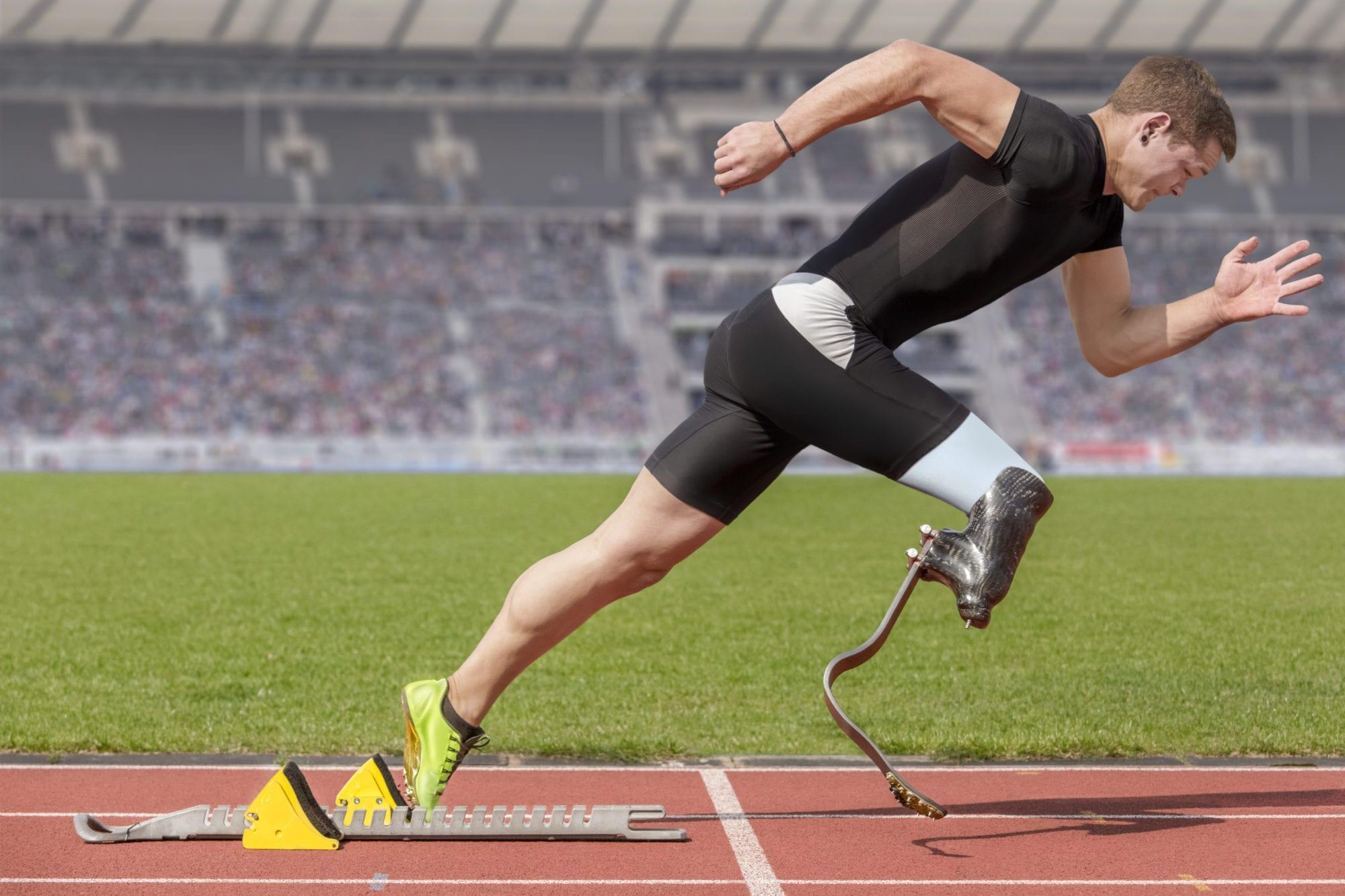 Disabled sprinter start block - Disabled athlete - SADI