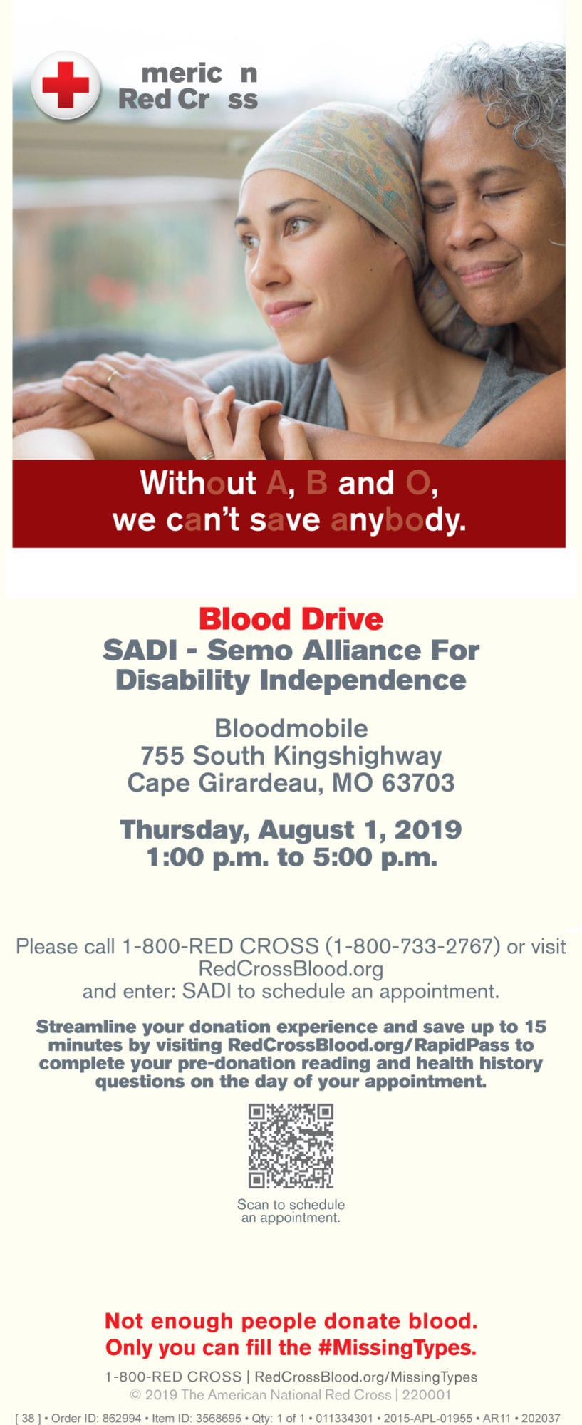American Red Cross Blood Drive at SADI
