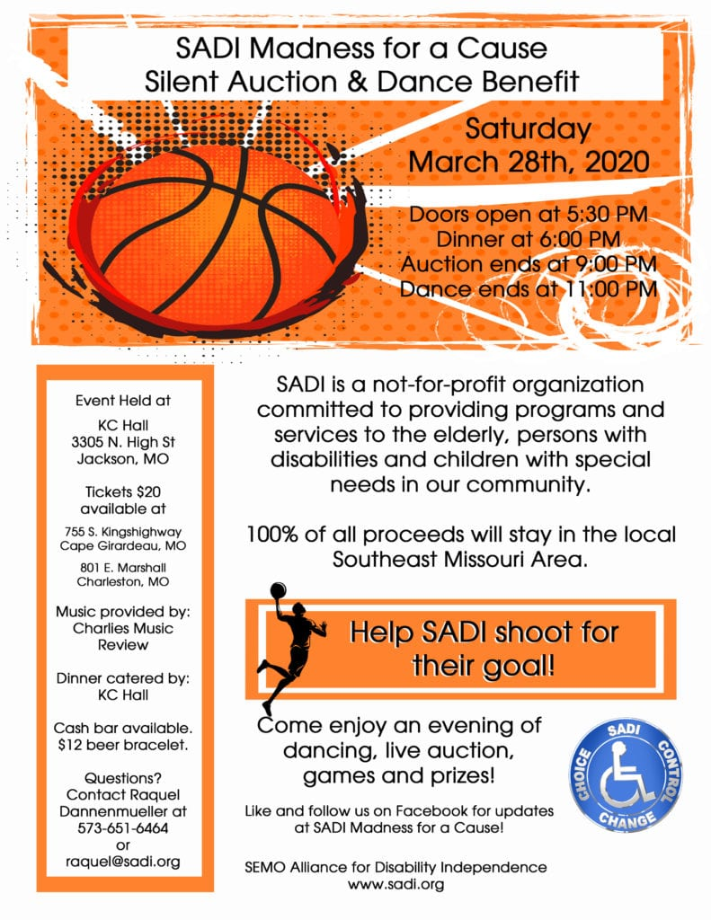 SADI Madness for a Cause Silent Auction & Dance Benefit